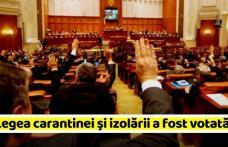 Legea carantinei şi izolării a fost adoptată de Parlament. Cele mai importante modificări decise de aleși