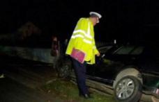 Șofer, cu alcoolemie record, a ajuns cu mașina în șanț