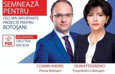 Cea mai mare campanie de consultare publică lansată de Federovici și Andrei, susținuți de PSD pentru Consiliul Județean și Primăria Botoșani