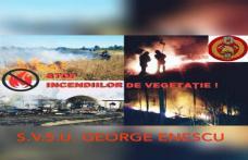 Serviciul voluntar pentru Situații de Urgență al comunei George Enescu informează!
