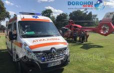 Bărbat din Suharău preluat de urgență de elicopterul SMURD de la Dorohoi - FOTO