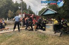 Intervenție în forță la Dorohoi! Bărbat căzut în fântână, scos de pompieri – VIDEO / FOTO