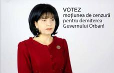 Doina Federovici: Votez moțiunea de cenzură pentru demiterea Guvernului Orban care a batjocorit în ultimul hal copiii, vârstnicii medicii și profesori