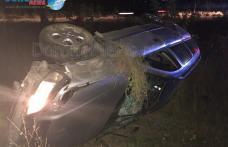 ACCIDENT GRAV! Trei tineri răniți după ce s-au răsturnat cu mașina pe DN 29B Dorohoi - Botoșani - FOTO