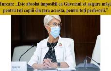 """Doina Federovici: """"Domnule Șoptică, nu vă jucați cu sănătatea copiilor și dascălilor noștri. Guvernul PNL nu asigură măști și dezinfectanți pentru toț"""