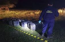 Ţigări de contrabandă de peste 252.000 lei, reţinute cu focuri de armă la frontiera de est - FOTO