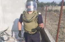 Grenadă de mână descoperită în curtea unui botoșănean