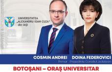 """Cosmin Andrei: """"Am început identificarea spațiilor pentru găzduirea în Botoșani a facultăților de la Universitatea Alexandru Ioan Cuza din Iași"""""""