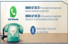 Linii Telverde destinate informării cu privire la începerea noului an școlar
