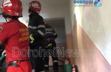 Panică într-un bloc din Dorohoi! Incendiu izbucnit într-o garsonieră - FOTO