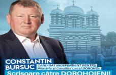 """Constantin Bursuc, candidat independent: Scrisoare către dorohoieni """"Avem o șansă împreună! Haideți să nu o ratăm și de această dată!"""""""