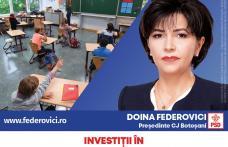 Doina Federovici: Continuăm investițiile în educație! Ne-am ținut de cuvânt: 164 de școli și grădinițe în 55 de localități, construcții noi și reabili