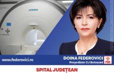 """Doina Federovici: """"La Consiliul Județean, voi continua investițiile în sănătate din guvernarea PSD: aparatură nouă la Spitalul Județean, modernizarea"""
