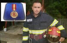 """Pompier din Dorohoi recompensat de Ministrul Vela cu distincția """"Emblema de onoare a I.G.S.U."""" - FOTO"""