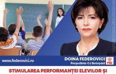 """Doina Federovici: """"Bursele suplimentare pentru copiii din învățământul special și stimulentele pentru elevii și profesorii cu performanțe deosebite su"""