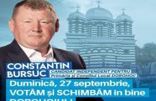 Constantin Bursuc - candidat independent: Duminică, 27 septembrie, VOTĂM și SCHIMBĂM în bine Dorohoiul!