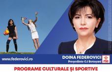 Doina Federovici: La Consiliul Județean voi repune Botoșaniul pe harta turistică a României prin valorificarea turismului cultural, ecumenic și al tra