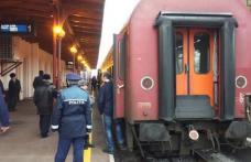 Bărbați reținuți după ce au furat un rucsac dintr-un tren staționat în gara Botoșani