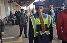 Siguranță pentru călători. Echipe de control, prezente în trenuri - FOTO