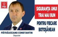 """Costel Pătrăuceanu, candidat PSD la Camera Deputaților: """"PSD știe să guverneze bine, să atragă fonduri europene, să facă investiții, să crească venitu"""