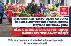 Prefectul PNL de Botoșani după ce a executat ordinul lui Orban de închidere a piețelor a aruncat vina pe PSD. Parlamentarii social-democrați botoșănen
