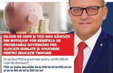 """Marius Budăi, deputat PSD: """"80.000 de copii și toți nou născuți din Botoșani vor beneficia de programele guvernării PSD: alocații dublate și vouchere"""