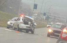 Accident cu trei mașini la Botoșani! O autospecială a Poliției implicată în carambol