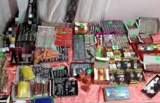 Sute de kilograme de articole pirotehnice confiscate de polițiști