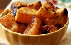 Cartofi dulci la cuptor, cu ghimbir si lime