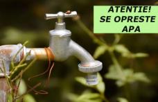 Atenție se oprește apa, pe mai multe străzi din Dorohoi, pentru remedierea unei avarii