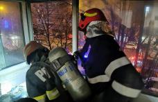 Panică într-un bloc din Botoșani! Incendiu izbucnit într-un balcon situat la etajul doi - FOTO