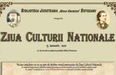 """Ziua Culturii Naționale marcată on-line la Biblioteca Județeană """"Mihai Eminescu"""" Botoșani"""