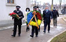 Jerbă de flori depusă de autoritățile botoșănene în ziua Micii Uniri - FOTO