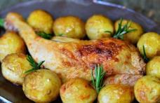 Cartofi țărănești cu friptură de pui
