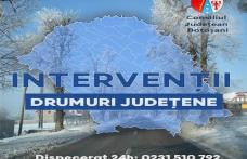 Intervenții pentru deszăpezirea drumurilor județene