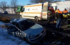 Botoșănean rănit după ce a ajuns cu mașina în șanț