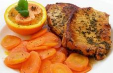 Friptura de porc cu morcovi