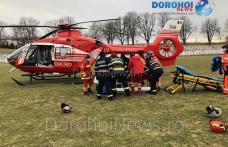Bărbat de 55 de ani preluat de urgență de la Dorohoi de elicopterul SMURD - FOTO