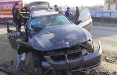 Accident rutier grav! Două persoane au ajuns la spital - FOTO