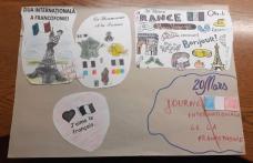 """La Francophonie en vers et couleurs, proiect desfășurat la Școala Spiru Haret"""" Dorohoi - FOTO"""