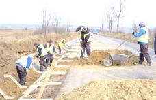 S-au redeschis șantierele de modernizarea drumurilor județene - FOTO
