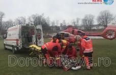 Femeie preluată de urgență cu elicopterul SMURD de la Dorohoi