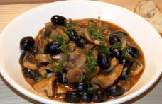Mâncărică de ciuperci cu măsline - de post