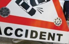 Accident la Mihăileni: Un șofer beat s-a înfipt cu mașina într-un stâlp