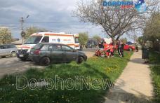 Accident pe DN Dorohoi – Botoșani! O tânără a fost acroșată de o mașină pe trecerea de pietoni - FOTO