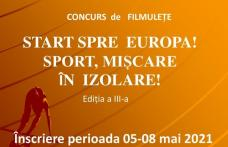 Start spre Europa - sport mișcare în izolare - Concursuri organizate de Liceul cu Program Sportiv Botoșani