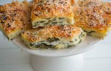 Plăcintă cu brânză și spanac