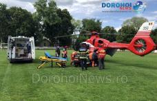 Bărbat din Cordăreni preluat de urgență de elicopterul SMURD de la Dorohoi – FOTO