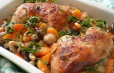 Pulpe de pui cu morcovi și cuperci