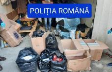 Percheziții la persoane bănuite de contrabandă. Au fost ridicate peste 17.000 de pachete de țigarete - FOTO